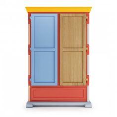 Model: Paper Patchwork Cupboard Opbergkast - Ontwerper: Studio Job - Merk: MOOOI - Herkomst: Nederland - Materiaal: Papier - Prijs: € 5413,-