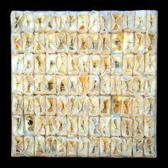 tangents - kathy miller   encaustic paper threads