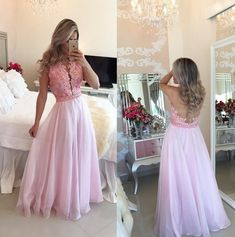 A Line Prom Dresses 2017 See Though Back Beaded Evening Dresses,Sexy Prom Dress,Prom Dresses by fancygirldress, $156.99 USD