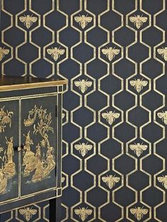 Gold Honey Bee Wallpaper - The Alley Exchange