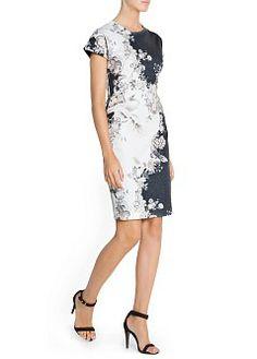 MANGO - CLOTHING - Dresses - Oriental print fitted dress