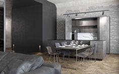 Дизайн проекта лофт в клубном доме DEPRE LOFT. #Depreloft #design #brickwall #interiors #sofa #loft #outoftime #интерьерлофта #studio211 #НашиПроектыStudio211