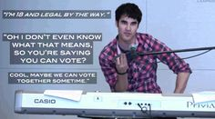 darren wants to vote with you. #darrencriss