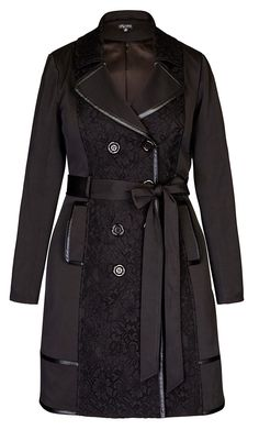 City Chic - Lace Vixen Trench Coat.  I want this bad.  It will be mine, this Autumn/Winter.