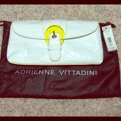 "I just added this to my closet on Poshmark: Adrienne Vittadini Clutch. Price: $100 Size: 10"" X 5"""