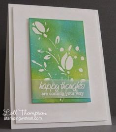 Stamping with Loll: White Tulips
