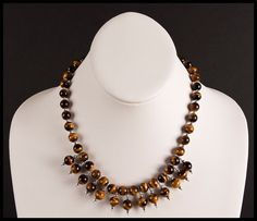 Mysterious Tigers Eye Necklace and Earrings Duet by floweravenue, $54.00 Tigers Eye Necklace, Tiger Eye Beads, Beaded Necklace, Necklaces, Mysterious, Chokers, Sterling Silver, Chain, Earrings