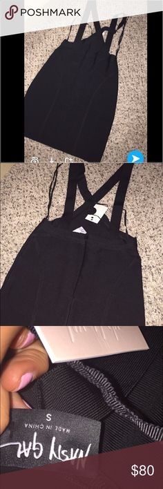 Nasty gal bandage suspender dress BNWT never worn size small no flaws the model photos are the best I could get so sorry if there not very good quality lol the red bandeau is not included just the skirt Nasty Gal Dresses