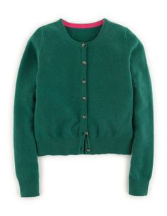 Cropped Cashmere Cardigan WK968 Cardigans at Boden