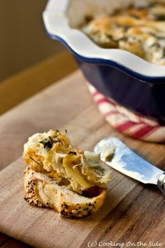 Hot Artichoke Dip from @CookingOnTheSide