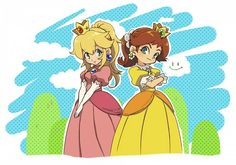 Peach and Daisy  :D Reminds me of Mizuki and Minami from Baka and Test for some reason