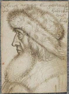Hans Holbein den Ældre (efter forlæg af), Portræt af Ulrich Artzt, borgmester i Augsburg og leder af den Swabiske liga (Augsburg, 1514-15, Statens Museum for Kunst, København).