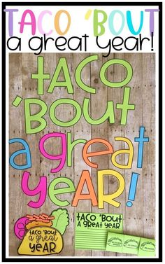 Taco 'Bout a Great Year! Fun taco themed activities to end the year in a fun and engaging way! End Of Year Activities, First Grade Activities, Reading Activities, Spring Activities, End Of Year Party, End Of School Year, Classroom Crafts, Classroom Themes, Classroom Design