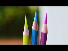 The Top 3 BEST Colored Pencils In The World!! ~ Polychromos - Caran D' Ache - Holbein ~ - YouTube