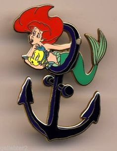Disney Pins LE 500 Signed Little Mermaid Princess Ariel Anchor Cruise Event Pin