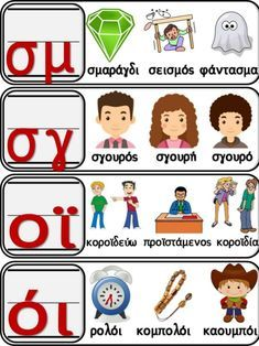 Greek Language, Speech And Language, Learn Greek, Greek Alphabet, Preschool Education, Greek Words, Home Schooling, Educational Activities, Primary School