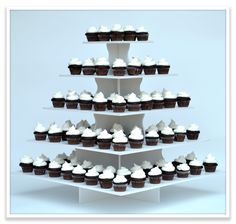 The Smart Baker - 5 Tier Square Cupcake Tower , $64.95 (http://www.thesmartbaker.com/5-tier-square-cupcake-tower/)