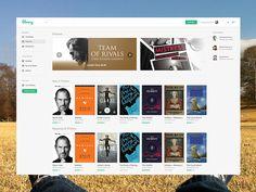 Library eBooks UI by Patrick Rogan