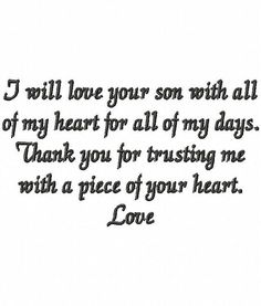 'so grateful for my wonderful Son-in-law--and the way he
