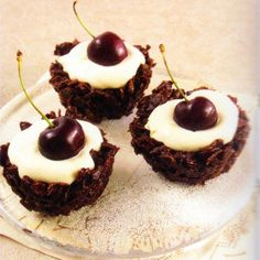 Chocolate Cherry Cupcakes Recipe - http://www.allbakingrecipes.com/recipes/chocolate-cherry-cupcakes-recipe/