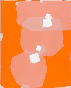 Masking tape art (and oil paint) Kees Goudzwaard Pablo Picasso, Claude Monet, Masking Tape Art, Modern Art, Contemporary Art, Robert Rauschenberg, Orange Art, Joan Mitchell, Photocollage