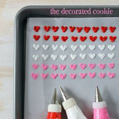 homemade heart sprinkles for Valentine's Day | The Decorated Cookie