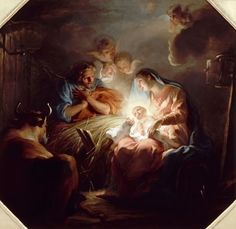 This image by artist C. Coypel shows the birth of Jesus in the Bethlehem stable. Joseph look in adoration at the Christ child, who is held by his most beautiful mother, the Blessed Virgin Mary. Divine Mother, Mother Mary, Catholic Art, Religious Art, Religious Quotes, Versailles, Roi George, Joseph, Salvator Mundi