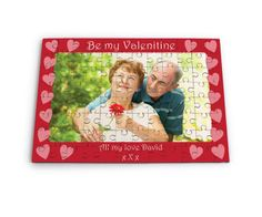 Celebrate Love this year with this beautiful personalised Jigsaw Puzzle. The Puzzle is personalised with a photo of your choice and a message for the recipient. Once you have placed your order we take you image and message and create this fantastic jigsaw. We then break the jigsaw into lots of pieces and put it inside a clear box ready for you to assemble. A lovely gift for a special husband/wife or Girlfriend/Boyfriend.