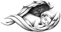 Baby angel tattoo design