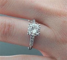 1940's Vintage Engagement Ring - Platinum and Diamond