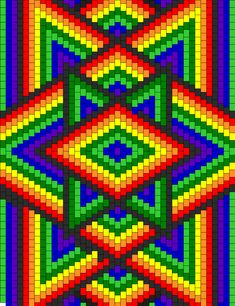 Pony Bead Patterns for Kandi Cuffs Bargello Quilt Patterns, Tapestry Crochet Patterns, Bargello Quilts, Graph Paper Drawings, Graph Paper Art, Cross Stitch Flowers, Cross Stitch Patterns, Pixel Art, Dibujos Zentangle Art