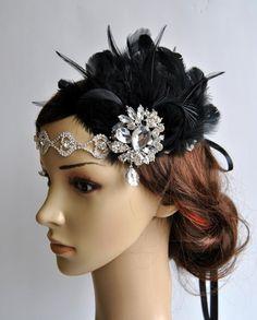 Rhinestone Flapper headband1920's flapper by BlueSkyHorizons