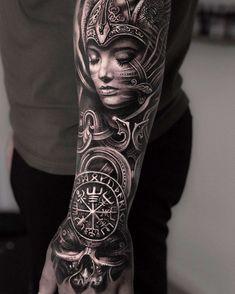 Viking Tattoo Sleeve, Armor Tattoo, Norse Tattoo, Celtic Tattoos, Warrior Tattoo Sleeve, Tattoo Symbols, Best Sleeve Tattoos, Tattoo Sleeve Designs, Body Art Tattoos
