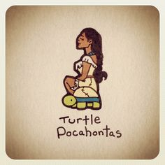 Turtle Pocahontas #turtleadayjune - @turtlewayne- #webstagram