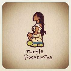 Turtle Pocahontas #turtleadayjune - @turtlewayne- #webstagram