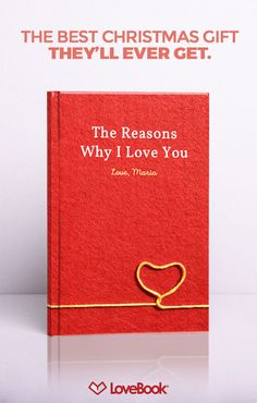 LoveBook is the most unique Personalized Christmas Gifts you could ever give to someone you love. Create your own personalized book of reasons why you love someone. LoveBook is the perfect Paper Christmas Gifts! Christmas Presents, Craft Gifts, Cute Gifts, Diy Gifts, Holiday Gifts, Christmas 2017, All Things Christmas, Christmas Time, Christmas Crafts