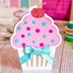 Sizzix Cupcake Fold-it Shaped Card Die Set Handmade Birthday Cards, Happy Birthday Cards, Diy Birthday, Greeting Cards Handmade, Birthday Images, Birthday Quotes, Birthday Greetings, Birthday Wishes, Shaped Cards