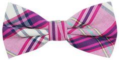 OCIA Mens Cotton Plaid Handmade Bow Tie -OM61