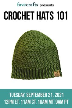 If you love knitting hats, you'll love crocheting hats, too! Sign up for a class from the lovely Marly Bird to learn how to crochet hats on 9/21 at 11am CDT Learn How To Knit, Learn To Crochet, Knitted Hats, Crochet Hats, Easy Knitting, Knitting Tutorials, Crochet Classes, Popular Articles, Craft Videos