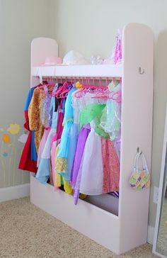 little girls dress up closet Dress Up Outfits, Diy Dress, Cheap Dress, Dress Ideas, Dress Up Closet, Dress Up Wardrobe, Wardrobe Closet, Closet Space, Dress Up Storage