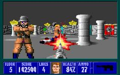 Wolfenstein 3D is a first-person shooter (FPS) developed by id Software and published by Apogee Software. Originally released on May 5, 1992, for DOS, the game was inspired by the 1980s Muse Software video games Castle Wolfenstein and Beyond Castle Wolfenstein. Wolfenstein 3D was a critical and commercial success. It is widely regarded as having helped popularize the genre on the PC, and having established the basic run-and-gun archetype for many subsequent FPS games.