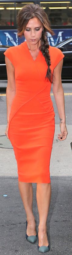 If I could have one person's wardrobe it would be Victoria Beckham!!
