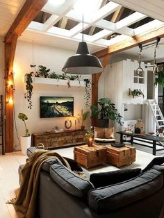 Outstanding small living room designs are offered on our site. Home Living Room, Living Room Designs, Living Room Decor, Living Room Ideas Dark Wood, Modern Living Rooms, Earthy Living Room, Cozy Living, Modern Room, Living Room Inspiration