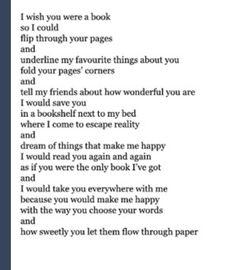 I love books and I love him