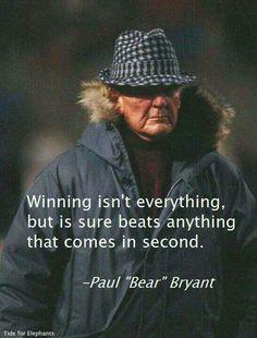 Coach Bryant on Winning. #SEC www.RollTideWarEagle.com Sports stories that…