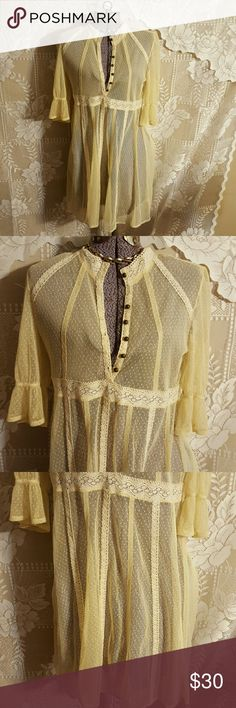 Free People sheer dress size S P Vintage style Free People sheer dress size S/P Free People Dresses Mini