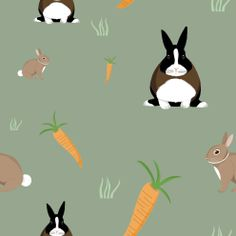 Custom ELE bunny print #design #illustration #pattern #print