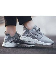 hot sale online e34dd 616e5 Nike Air Huarache 3 Grey White on We Heart It