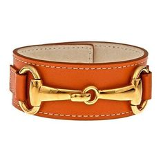 Horse Bit Leather Cuff ❤ liked on Polyvore