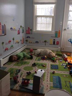 27 dream play room a bright space for imaginative play 4 « inspiredesign Toddler Playroom, Toddler Rooms, Toddler Boy Room Ideas, Playroom Design, Kids Room Design, Little Boys Rooms, Daycare Rooms, Kids Play Area, Toy Rooms